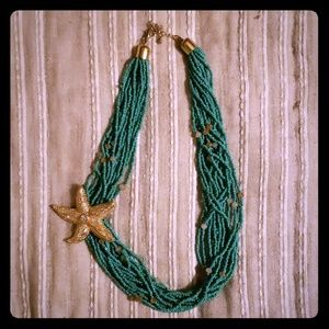 Mermaid Starfish Necklace, 24 inches